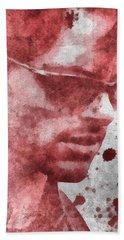 Cyclops X Men Paint Splatter Beach Towel by Dan Sproul