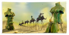 Dali On The Move  Beach Towel by Mike McGlothlen