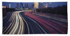 Dallas Afterglow Beach Towel by Rick Berk
