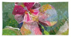Dancing Orchid IIi Beach Towel by Shadia Derbyshire