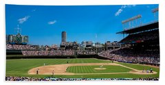 Day Game At Wrigley Field Beach Towel by Anthony Doudt