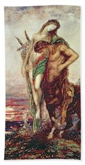 Dead Poet Borne By Centaur Beach Towel by Gustave Moreau