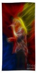 Def Leppard-adrenalize-joe-ga25-fractal Beach Towel by Gary Gingrich Galleries