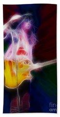 Deff Leppard-adrenalize-joe-gf25-fractal Beach Towel by Gary Gingrich Galleries