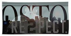 Derek Jeter - Boston Beach Towel by Joann Vitali