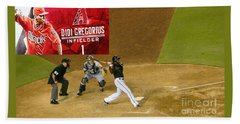 Didi Gregorius - Arizona Diamondbacks Beach Towel by Beverly Guilliams