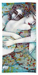 Do Not Leave Me Beach Towel by Albena Vatcheva