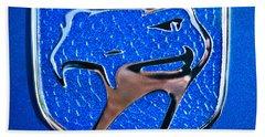 Dodge Viper Emblem -217c Beach Sheet by Jill Reger