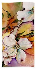 Dogwood In Spring Colors Beach Towel by Lil Taylor