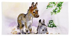 Donkeys Beach Towel by Diane Matthes