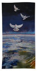 Doves Beach Towel by Michael Creese