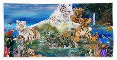 Dreaming Of Tigers  Variation  Beach Towel by Alixandra Mullins