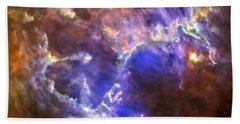 Eagle Nebula Beach Towel by Adam Romanowicz