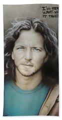 ' Eddie Vedder ' Beach Towel by Christian Chapman Art
