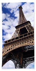 Eiffel Tower Beach Sheet by Elena Elisseeva