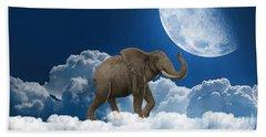Elephant On Cloud 9 Beach Sheet by Marvin Blaine