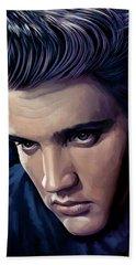 Elvis Presley Artwork 2 Beach Towel by Sheraz A