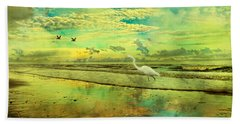 Emerald Evening Beach Towel by Betsy Knapp