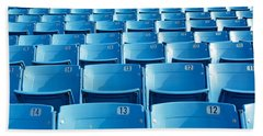 Empty Blue Seats In A Stadium, Soldier Beach Towel by Panoramic Images