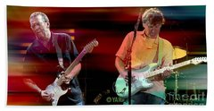 Eric Clapton And Steve Winwood Beach Towel by Marvin Blaine