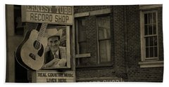 Ernest Tubb Record Shop Beach Towel by Dan Sproul