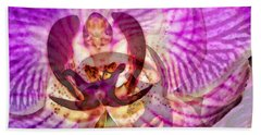 Ethereal Orchid By Sharon Cummings Beach Towel by Sharon Cummings