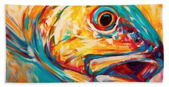 Expressionist Redfish Beach Towel by Savlen Art