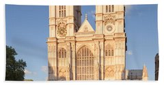 Facade Of A Cathedral, Westminster Beach Towel by Panoramic Images