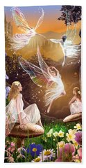 Fairy Ballet Beach Sheet by Garry Walton