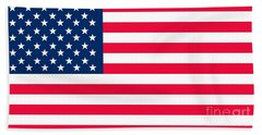 Flag Of The United States Of America Beach Towel by Anonymous