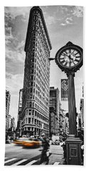 Flatiron Rush Beach Towel by Andrew Paranavitana