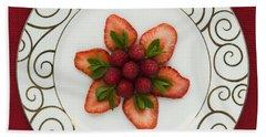 Flowering Fruits Beach Towel by Anne Gilbert