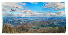 Flying The Sky Blue Ridge Parkway Beach Towel by Betsy Knapp