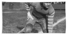 Football Fullback Player Beach Towel by Underwood Archives