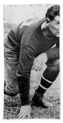 Football Player Jim Thorpe Beach Sheet by Underwood Archives