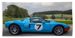 Ford Gt Beach Towel by Debra and Dave Vanderlaan