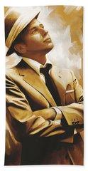Frank Sinatra Artwork 1 Beach Towel by Sheraz A