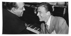 Frank Sinatra At Stork Club Beach Towel by Underwood Archives