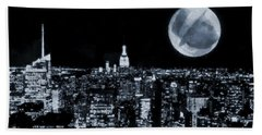 Frank Sinatra New York City Moon Beach Sheet by Dan Sproul
