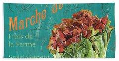 French Market Sign 3 Beach Sheet by Debbie DeWitt