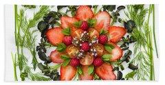 Fresh Fruit Salad Beach Sheet by Anne Gilbert
