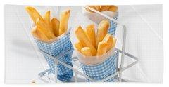 Fries Beach Towel by Amanda Elwell