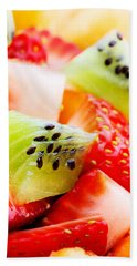 Fruit Salad Macro Beach Towel by Johan Swanepoel