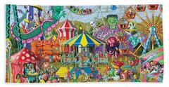 Fun At The Fairground Beach Sheet by Mark Gregory