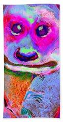 Funky Meerkat Tunnel Art Print Beach Sheet by Sue Jacobi