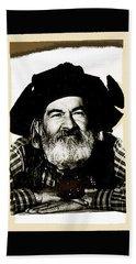 George Hayes Portrait #1 Card Beach Sheet by David Lee Guss