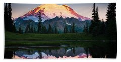 Glowing Peak Beach Towel by Inge Johnsson
