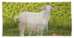Goat Beach Towel by Ditz