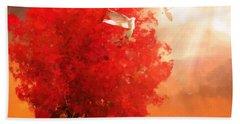 God's Love Beach Towel by Lourry Legarde