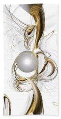 Gold And Pearl Beach Sheet by Anastasiya Malakhova